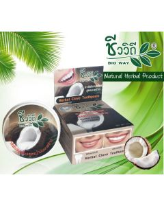 Bio Way Herbal Clove Toothpaste Coconut Formula (25 g)