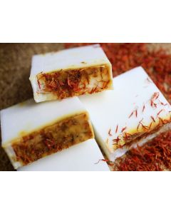 Saboo Natural Soap - Safflower Rice Milk (100g)
