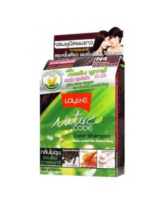 Lolane Nature Code N4 Light Mahogany Brown Color Shampoo (10 ml)