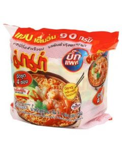 Mama Big Pack Shrimp Tom Yum Flavoured Instant Noodle (90g x 4pcs)