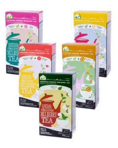 Kanchana Organic Mulberry Tea Mix Flavor (125 Teabags)