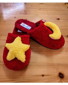 Women Slippers Red Handmade